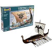 Revell Maqueta Viking Ship, Kit Modello, Escala 1:50 (5403) (05403), Multicolor