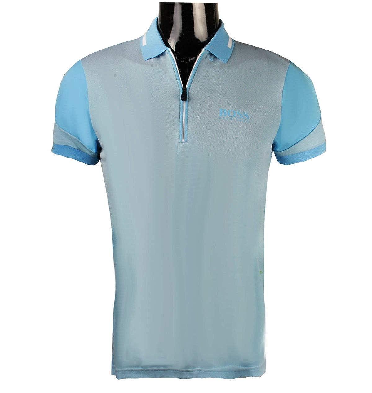 Amazon Hugo Boss Mens Polo Golf Shirt Prek Pro 50382181 Blue