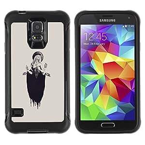 Suave TPU Caso Carcasa de Caucho Funda para Samsung Galaxy S5 SM-G900 / Lucia Woman Beige Ink Deep / STRONG