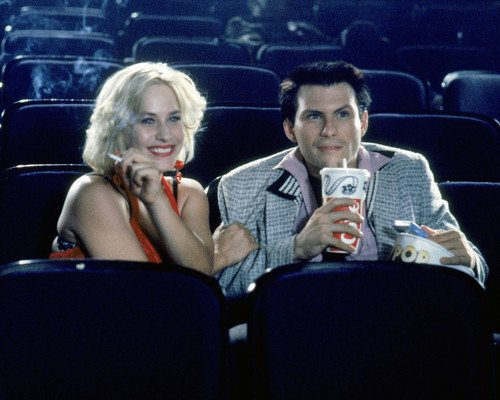 True Romance Patricia Arquette Christian Slater in movie theatre 16x20 Poster