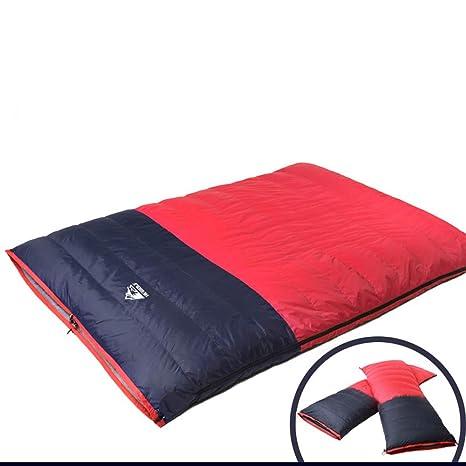 Lzyc Doble Saco De Dormir para Adultos Desmontable Grueso Cálido Otoño E Invierno Pato Saco De