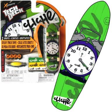 Price comparison product image Tech Deck Cliche Zip Zinger Finger Skateboard 96mm with Metal Trucks Grip Tape and Graphics By Spin Master - Rare - Vhtf