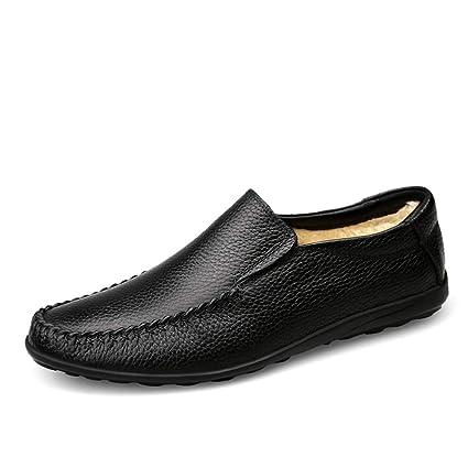 Zapatos Mocasines para hombre 2018 Mocasines de conducción Ocasional Suave y cómodo Resbalón en el paño
