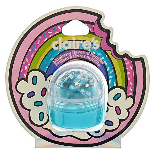 Claire's Girl's Rainbow Donut Lip Gloss - Blueberry