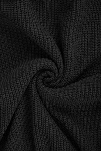 392755f8da9 Pink Queen Women s Loose Turtleneck Oversize Long Pullover Sweater Dress  Black M
