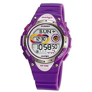 Gamuttek Pasnew LED de alta calidad resistente al agua 100m Deportes reloj digital para niños niñas Boy - morado: Amazon.es: Deportes y aire libre