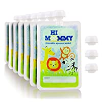 Reusable Baby Food Pouch Large 7 Pack by HiMOMMY – Homemade Organic Healthy F...
