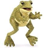 フォークマニス Folkmanis ごきげん カエル 蛙 ハンドパペット (並行輸入品) [並行輸入品]