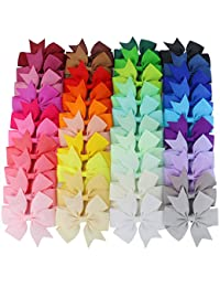 Mybigqueen Boutique Grosgrain Ribbon Pinwheel Hair Bows Attached With Alligator Clips For Teens Girls Babies Toddlers Gifts 40Piece BOBEBE Online Baby Store From New York to Miami and Los Angeles