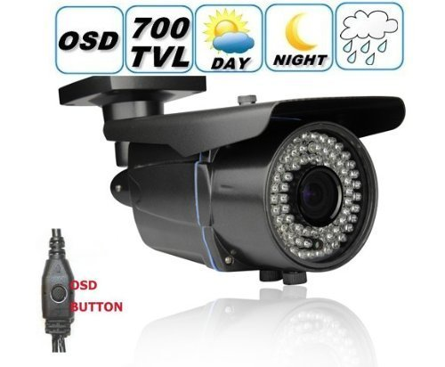 DTVASION DF40NT7 700 TV lines 1 3 Color SONY CCD EFFIO-E Outdoor Bullet Security Camera 2.8 12mm Varifocal Lens, 42PCS Infrared LED, 115 feet IR Distance, Metal vandal proof water proof IP66
