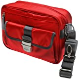 Nikon 1 Series & Coolpix Deluxe Digital Camera Case (Red) for 1 S2, J4, V3, AW1, Coolpix L830, L840, P530, P600, P610, P900