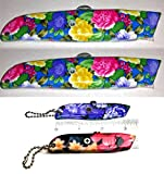 Best Value Christmas Gift for Mother's Day Gift for Mom Ladies - 4 Piece Floral Flower Pattern Box Utility Knife Cutter {jg} Great Gift for Grandma, Grandmother, Sister, Cousin, Friend, Gay, LGBTQ.