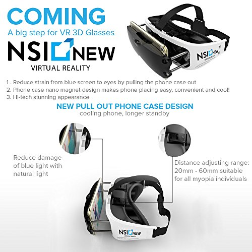 Amazon.com: NSInew 3D VR Eyes Is A Virtual Reality Headset, 120 ...