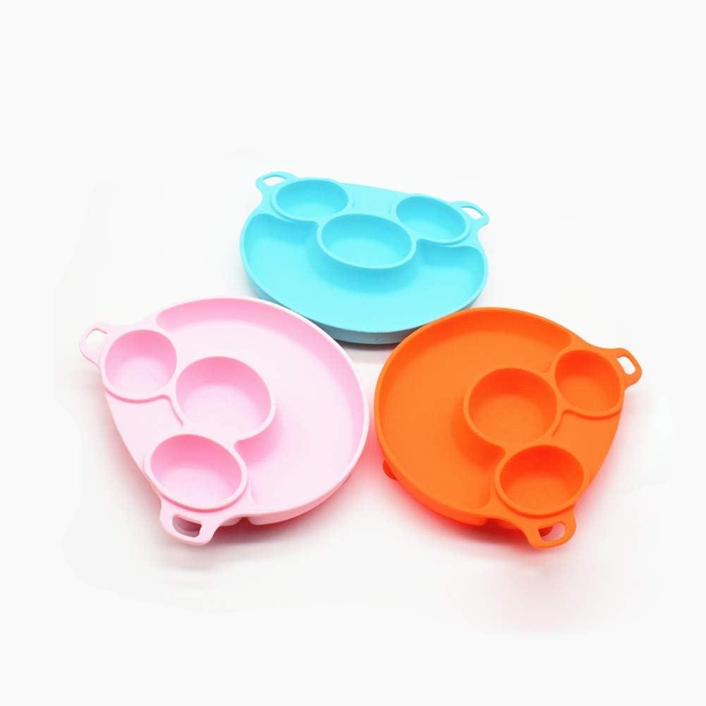 sans BPA pour Enfants avec Ventouse Assiette /à Manger en Silicone sans BPA MeterMall