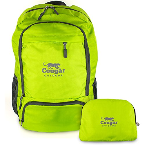 Lightweight Packable Backpack from Cougar Outdoor, Foldable Water Resistant 30L Daypack Best For Travel (Green) by Cougar OUTDOOR