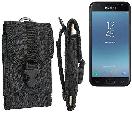 bolsa del cinturón / funda para Samsung Galaxy J3 (2017) Duos, negro | caja del teléfono cubierta protectora bolso - K-S-Trade (TM)