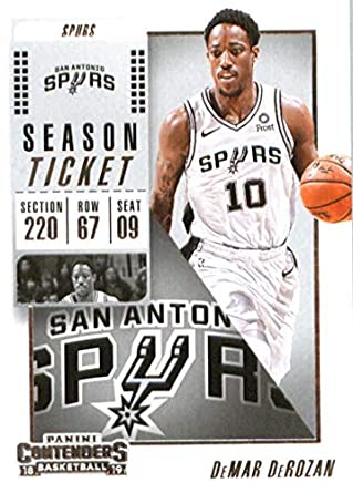 online store 8a70e 5c874 Amazon.com: 2018-19 NBA Contenders Season Ticket #47 DeMar ...