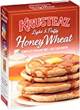 Krusteaz Light & Fluffy Honey Wheat Complete Pancake Mix, 30-Ounce Boxes (Pack of 4)