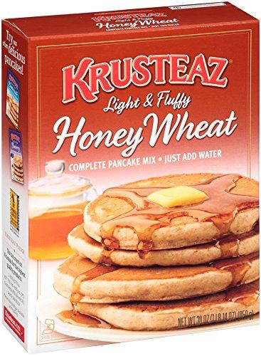 Krusteaz Light & Fluffy Honey Wheat Complete Pancake Mix, 30-Ounce Boxes (Pack of (Baking Honey)