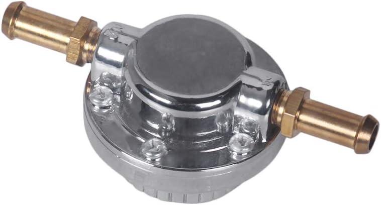 Docooler1 Gunmetal Fuel Pressure Regulator Adjustable Universal for Carburetor Engine
