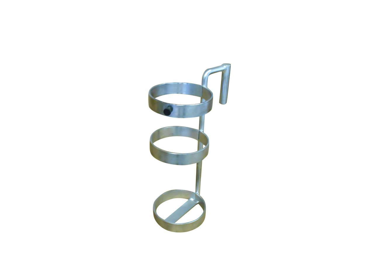 FWF OXYGEN HOLDER FOR HILL-ROM BED 3 RING DESIGN HOLDS 1 (D OR E STYLE) CYLINDER DIAMETER 4.3'' MADE IN USA