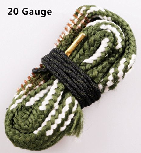 Cleaning Shotgun Barrel (New Bore Cleaner 20 GA Gauge Gun Barrel Cleaning Rope Rifle/Pistol/Shotgun Brass Brush Cleaning Cord)