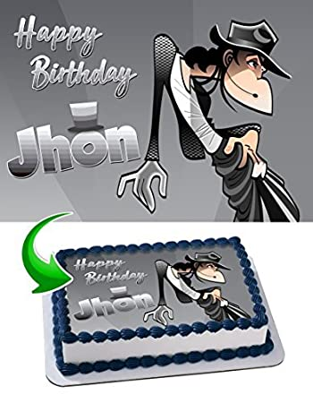 Michael Jackson Edible Cake Topper Personalized Birthday 1 4 Sheet Decoration Custom Party