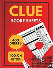 Clue Replacement Pads: Small Size Clue Score Sheets Two Sided (400 sheets)