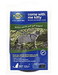 PetSafe Come With Me Kitty Harness and Bungee Leash, Medium, ...