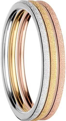 BERING Women's Ring Combination -Warsaw. Interchangeable Mix & Match Rings from the Arctic Symphony Collection. Designed in Denmark.