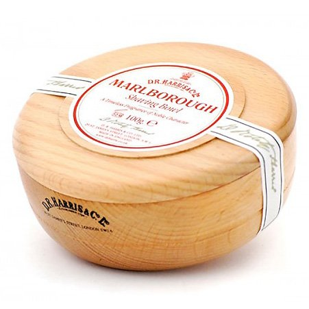 Beechwood Shaving Soap Bowl - D.R. Harris Marlborough Hard Shaving Soap in Beech Wood Bowl