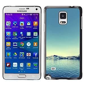 Paccase / SLIM PC / Aliminium Casa Carcasa Funda Case Cover para - Arctic Snow Winter Teal Blue Water - Samsung Galaxy Note 4 SM-N910F SM-N910K SM-N910C SM-N910W8 SM-N910U SM-N910