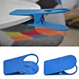 Cup Holder Clip - For Beach Pool Office Desk Table Laptop Chair Mug Holding Beverage Home Gadget, Blue
