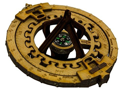 Compass-All Multiuse Puzzle Sextant, Sundial Games and Compass Top