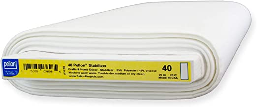 Pellon 40 Sew-in Interfacing White By the Yard