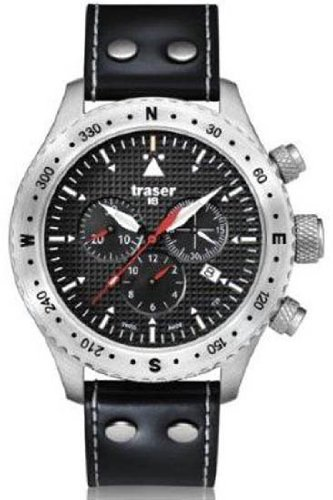 Traser Aviator Jungmann Chronograph Watch w/ Sapphire Crystal T5302.753.4P.11
