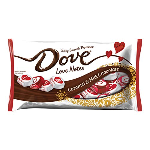 DOVE Valentine's Love Notes Caramel & Milk Chocolate Candy 7.94-Ounce ()