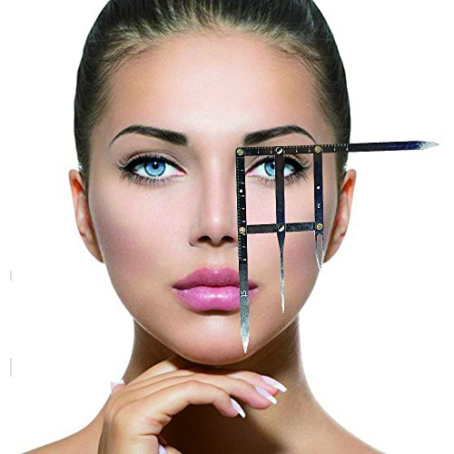 Eyebrow Tattoo Ruler Golden Ratio Permanent Grooming Stencil Shaper Symmetrical Tool Stainess Steel(2) by GIMQ