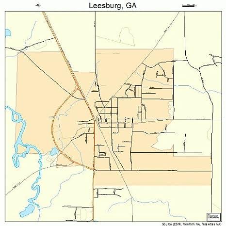 Map Of Georgia Towns.Amazon Com Large Street Road Map Of Leesburg Georgia Ga