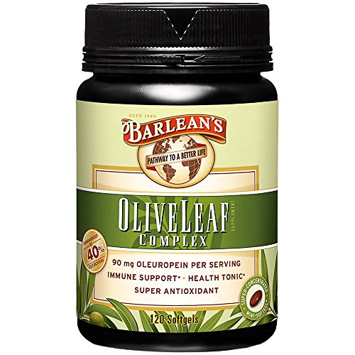 Barlean's Organic Oils 120ct Olive Leaf Complex Softgels, 120 -