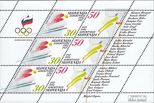 Slovenia 6-7 Sheetlet (Complete.Issue.) 1992 Olympics Winter Games ´92 (Stamps for Collectors) Winter Sports
