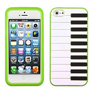 MYBAT IPHONE5CASKPT969 Pastel Piano Protective Case for iPhone 5 / iPhone 5S - 1 Pack - Retail Packaging - Dark...