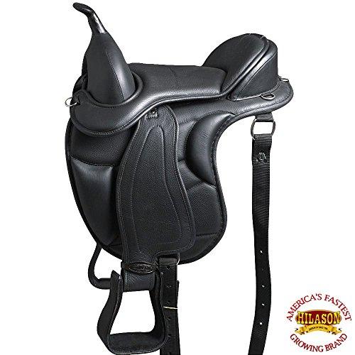 HILASON 18 Western Treeless Horse Saddle Endurance Trail Pleasure Leather