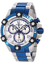 Invicta Men's 11181 Arsenal Reserve Chronograph White Patterned Dial Two Tone Stainless Steel Watch