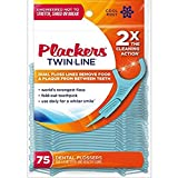 Plackers Twin Line Whitening Flosser, 75 count (Pack of 6)