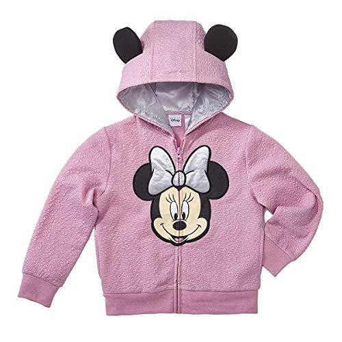 Dc Full Zip Sweatshirt - Character Kids' Full Zip Hoodie (Minnie Mouse, 4T)