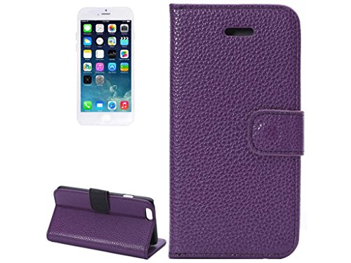 Apple iPhone 6s 6 Case Wallet, Fone-Stuff® - PU cuir, Retournement horizontal, Porte-cartes et support de couverture de protection dans le pourpre (Comprend protecteur d'écran)