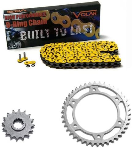Yellow for 2003-2006 Honda CBR600RR Volar O-Ring Chain and Sprocket Kit