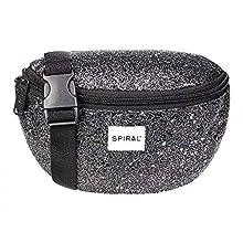 Spiral Black Stardust Bum Bag Riñonera de Marcha, 24 cm, 3 Liters, Negro (Black)