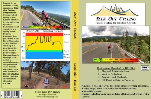 Indoor Cycling 4-dvd Set: Virtual Rides in Boulder (Boulder Bike)